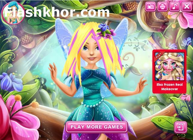 بازی آنلاین تینکربل آرایش واقعی مو پری فلش