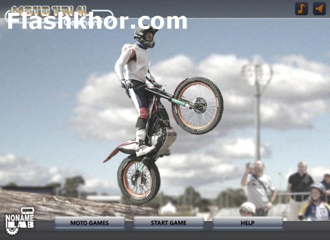بازی آنلاین موتور سواری چالش موانع در آلمان فلش