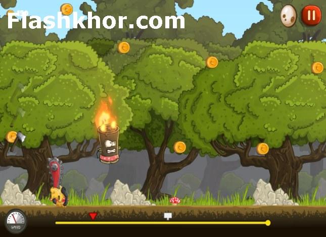 بازی آنلاین پرتاپ کنده درخت تیمی فلش