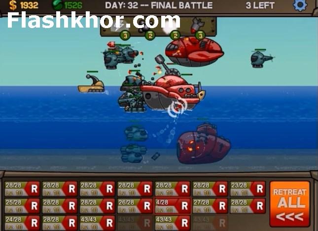 بازی آنلاین نبرد دریایی برای کامپیوتر اندروید فلش