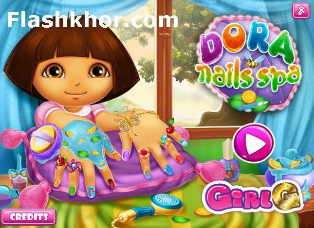 بازی آنلاین طراحی ناخن دورا لاک زدن ناخن فلش