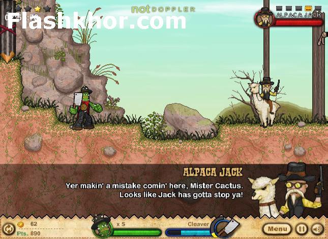 بازی آنلاین مرد کاکتوسی هفت تیر کش 2 فلش