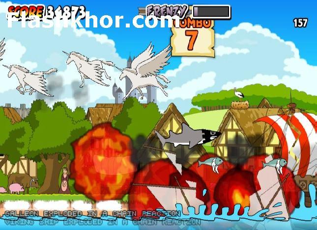 بازی آنلاین کوسه قاتل قرون وسطی فلش
