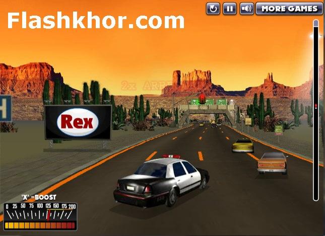 بازی آنلاین دزد و پلیس تعقیب دزد فلش
