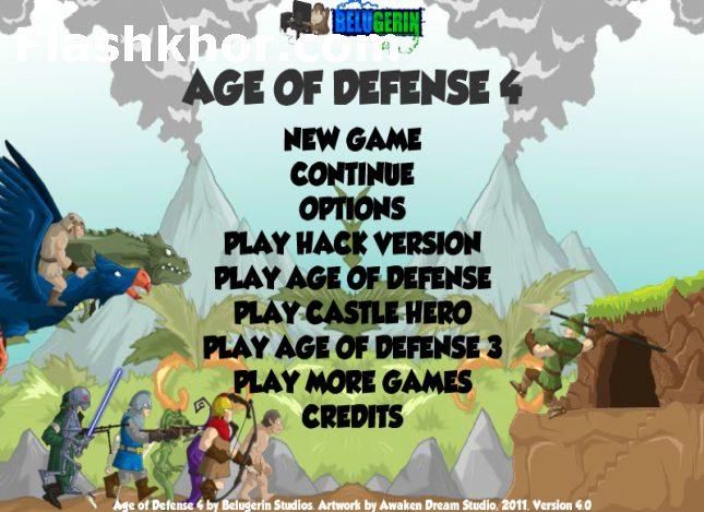 بازی آنلاین استراتژیک دوران دفاع 4 فلش