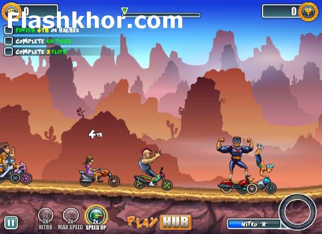 بازی آنلاین موتور کراس برای کامپیوتر تیم قهرمانان فلش