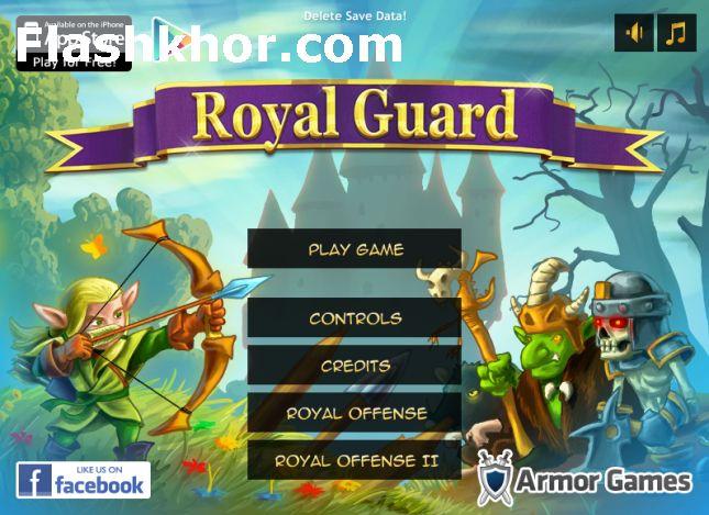 بازی آنلاین استراتژیگ جنگی گارد سلطنتی فلش