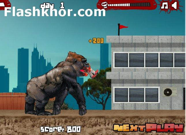 بازی آنلاین کینگ کنگ میمون برای کامپیوتر فلش