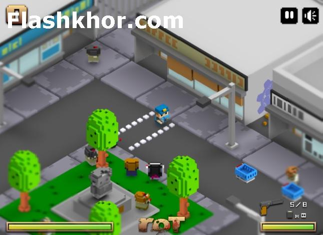 بازی آنلاین زامبی 2 شهر زامبی زده فلش