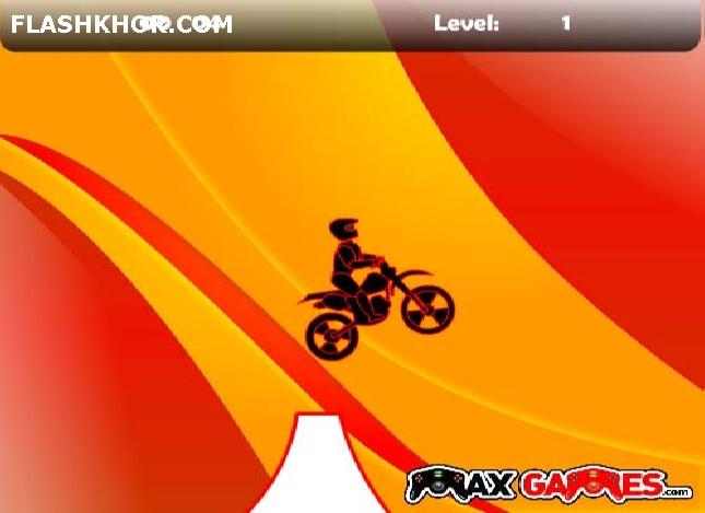 بازی آنلاین نهایت موتور سواری  عبور از مانع - ورزشی فلش