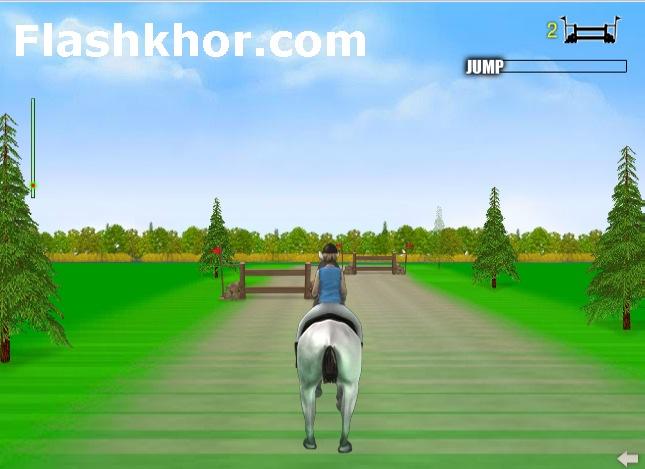بازی آنلاین اسب سواری حرفه ای فلش