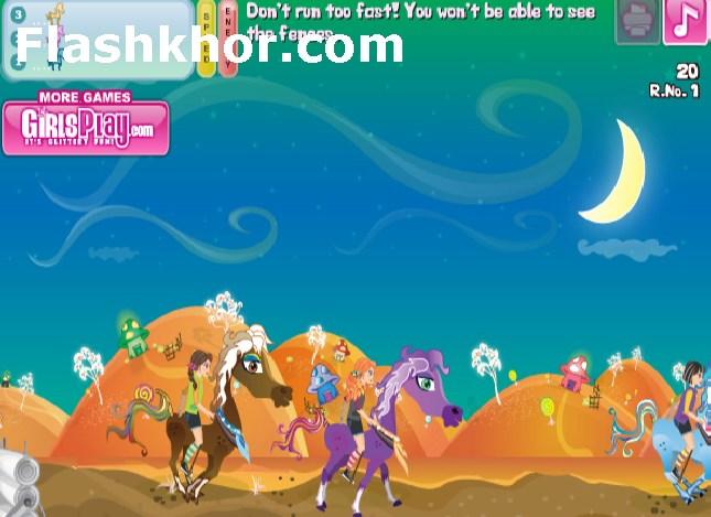 بازی آنلاین اسب های مهربون پونی فلش