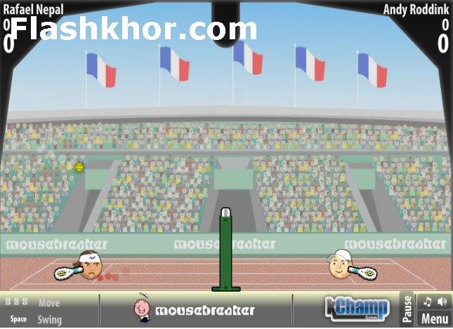 بازی تنیس برای کامپیوتر آنلاین بین کله ها