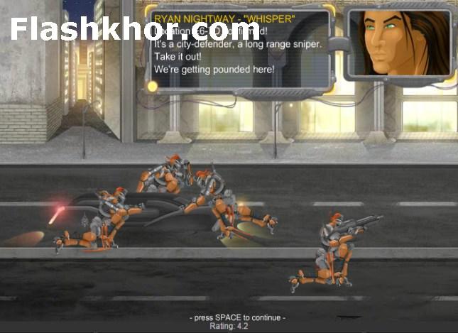 بازی آنلاین ربات ها جنگی ربات جنگجو هاسکی فلش