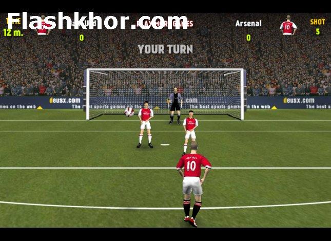 بازی آنلاین فوتبال لینگ برتر انگلیس فلش