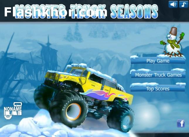 بازی آنلاین کامیون سواری در فصل زمستان فلش