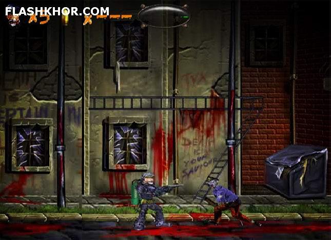 بازی آنلاین شورش زامبی ها - تیر اندازی zombie فلش