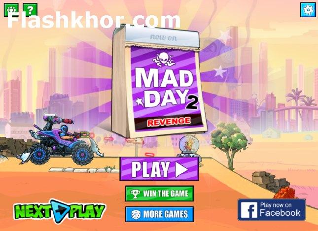 بازی آنلاین جیپ جنگی روز دیوانه وار 2 فلش