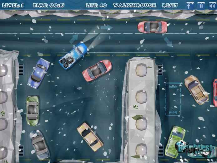 بازی آنلاین پارک دوبل وانت ماشین در هوای برفی فلش