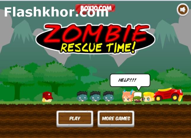 بازی آنلاین فکری زمان نجات از دست زامبی ها فلش