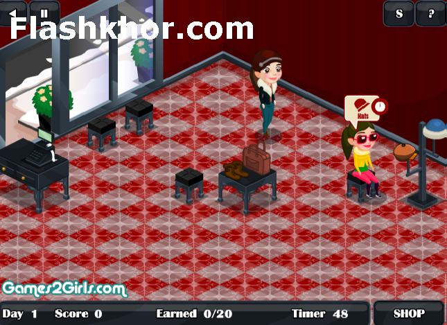 بازی آنلاین مدیریت فروشگاه لباس فروشی زمستانه 2 فلش
