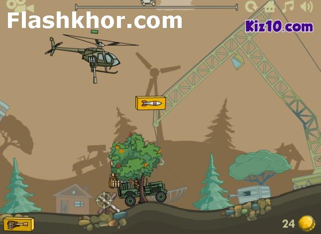 بازی آنلاین هلیکوپتری هلیکوپتر بمب افکن 2 فلش