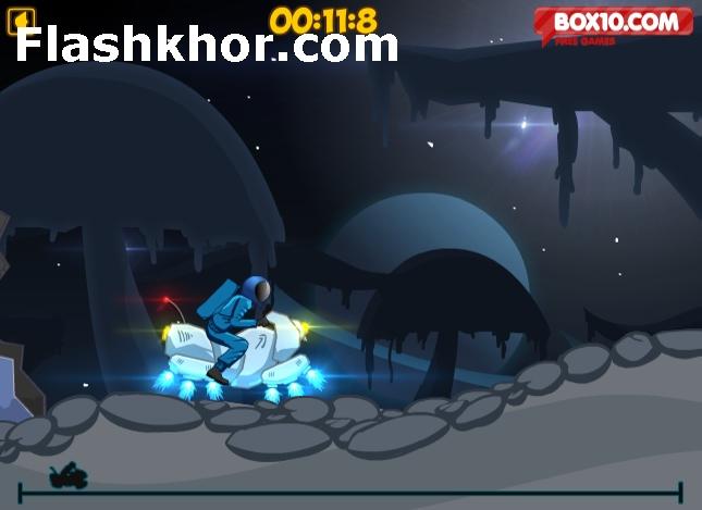 بازی آنلاین هاورکرافت هاور سواری در فضا فلش
