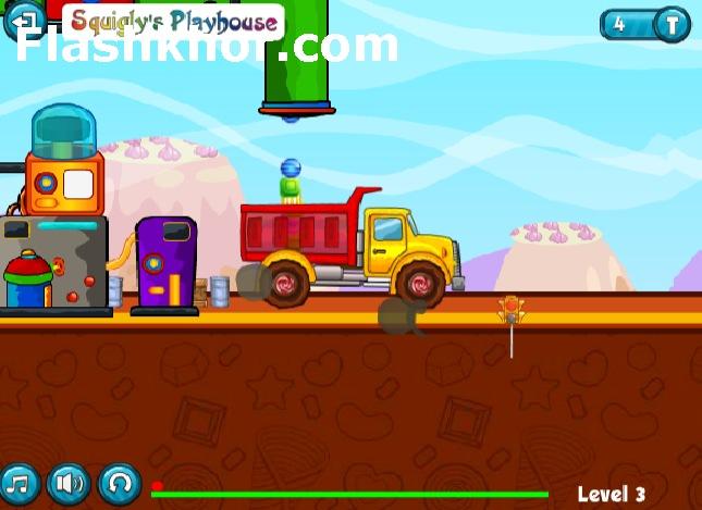 بازی آنلاین کامیون باربری حمل آب نبات جدید فلش