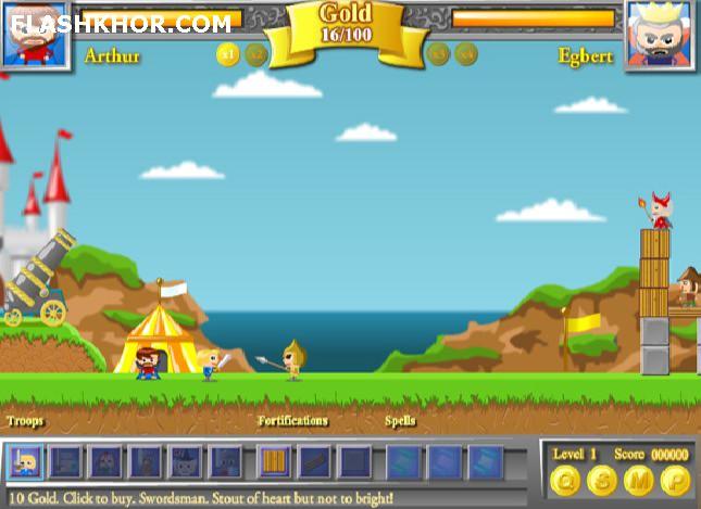 بازی آنلاین تلاش برای قدرت 2 - استراتژی جنگی فلش