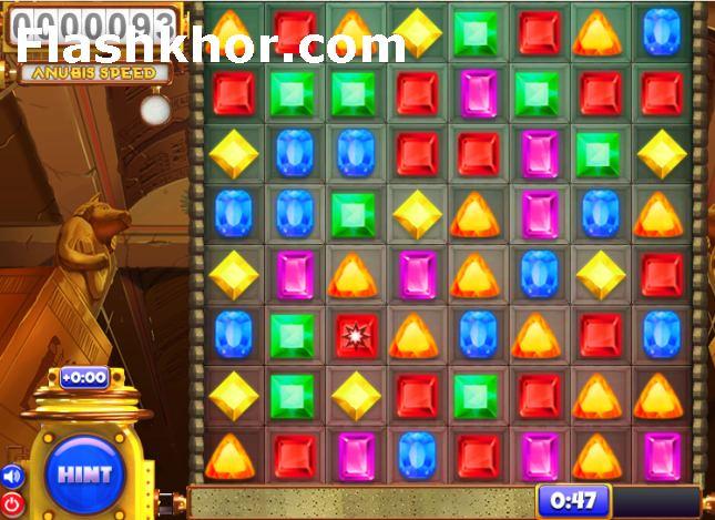 بازی آنلاین جواهرات برای کامپیوتر اندروید گنجینه فرعون فلش