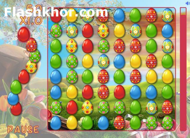 بازی آنلاین همرنگ ها تخم مرغ های رنگی آب پز فلش