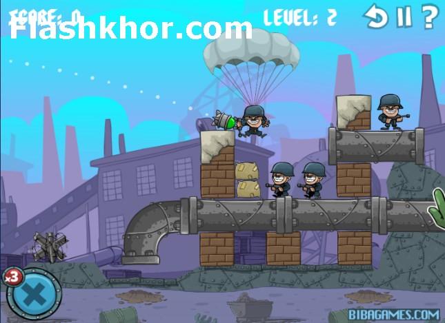 بازی آنلاین توپخانه جنگی راش 2 بازی توپخانه ای فلش