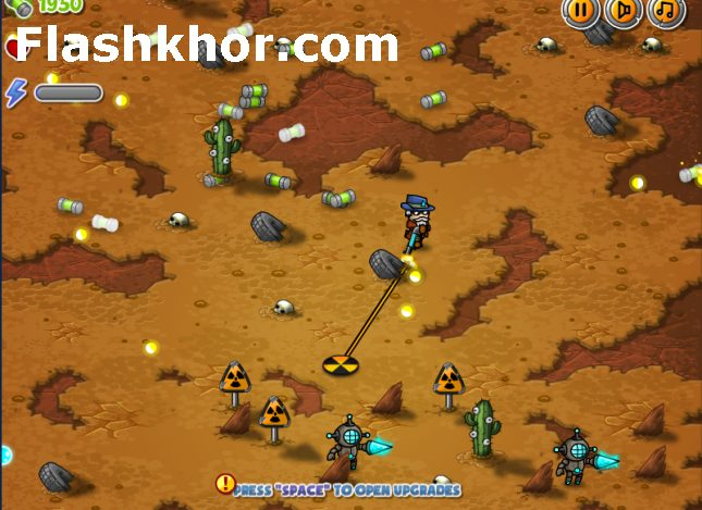 بازی آنلاین کابوی و بیگانگان فضایی در غرب وحشی فلش