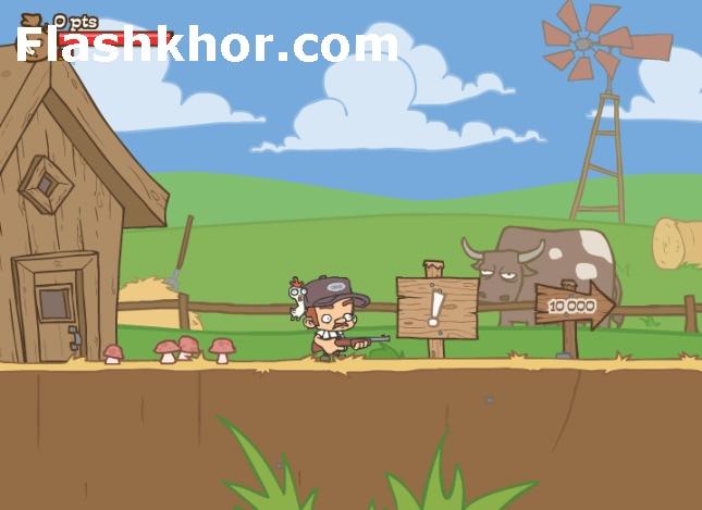 بازی آنلاین دیل مزرعه دار و طوطی تیراندازی فلش