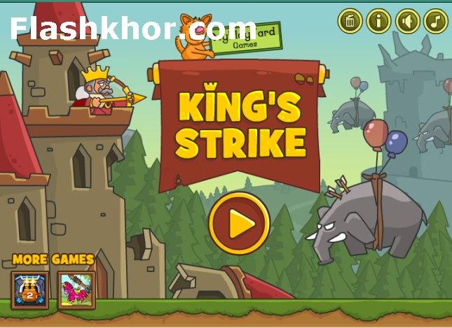 بازی آنلاین دفاع از قلعه پادشاه - فیزیکی فلش