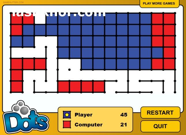 بازی آنلاین نقطه و خط 2 دو نفره فلش