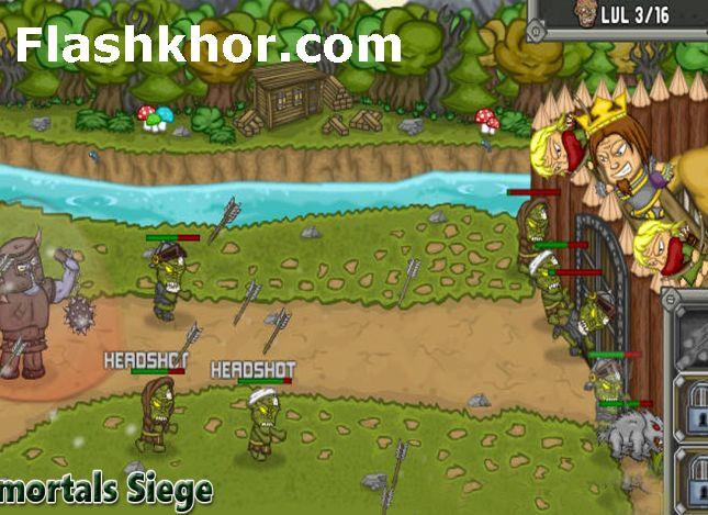 بازی آنلاین قلعه در محاصره تیراندازی فلش