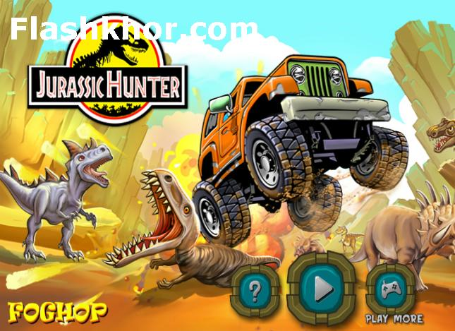بازی آنلاین پارک ژوراسیک دایناسورها جدید فلش