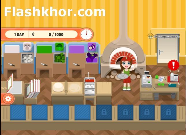 بازی آنلاین مدیریت پیتزا فروشی دختر اسکیت سوار اندروید کامپیوتر آیفون فلش