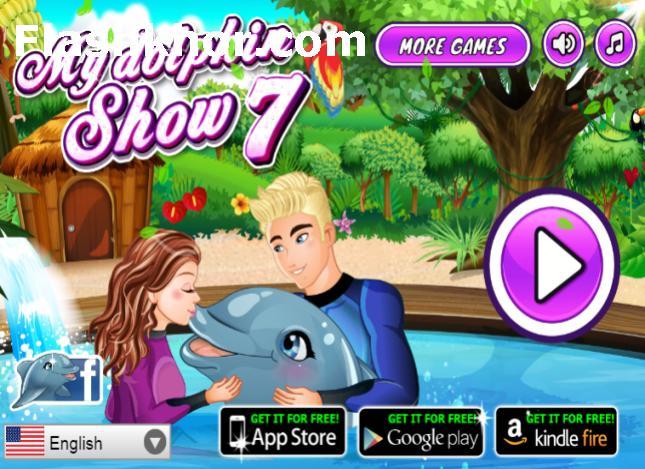 بازی آنلاین نمایش دلفین من 7 دخترانه اندروید کامپیوتر آیفون فلش