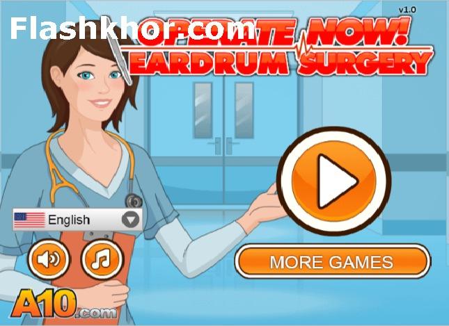 بازی عمل جراحی گوش باب اسفنجی دورا آنلاین