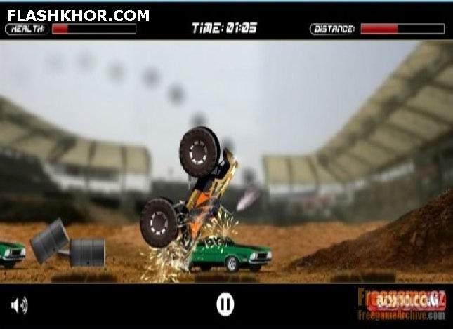 بازی آنلاین بهترین کامیون سواری دو - ورزشی فلش