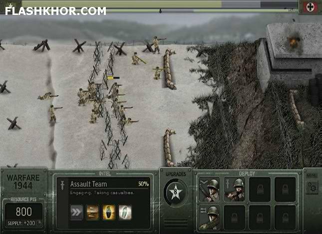 بازی آنلاین جنگ جهانی 1944 - استراتژی  جنگی فلش