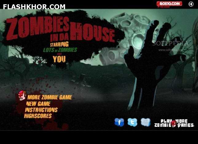 بازی آنلاین حمله زامبی ها به خانه - تیر اندازی فلش