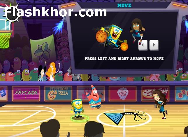 بازی بسکتبال برای اندروید بدون دیتا باب اسفنجی