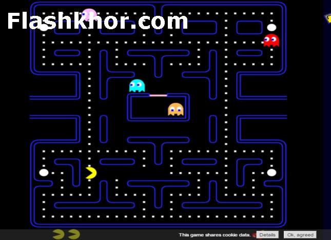 بازی پک من اندروید بازی پک من قدیمی جدید pacman کامپیوتر