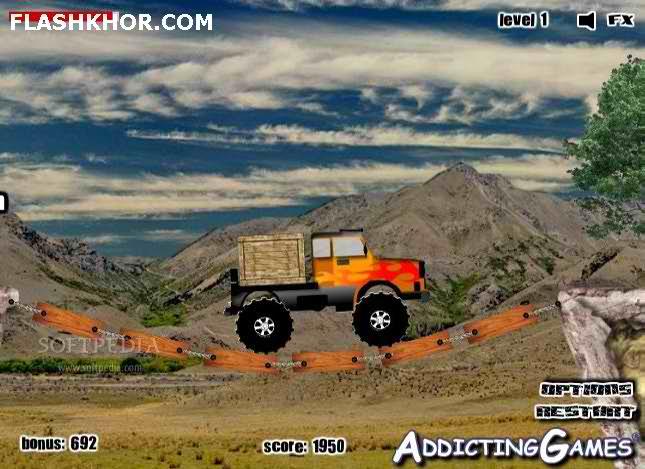 بازی آنلاین عشق کامیون سواری - ورزشی فلش
