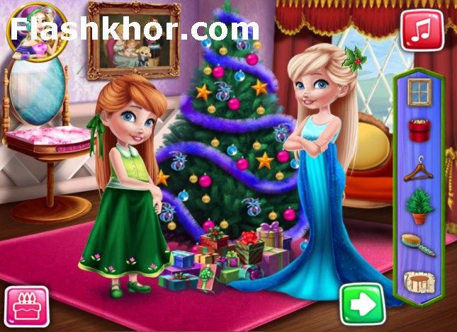 بازی کریسمس السا و آنا دکوراسیون اتاق کریسمس اندروید کامپیوتر