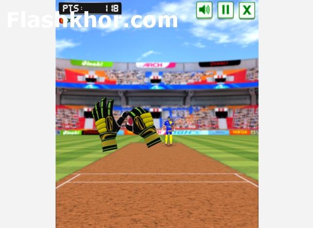 بازی آنلاین کریکت برای کامپیوتر اندروید توپ گیر میدان