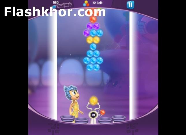 بازی آنلاین حباب های رنگی سری جدید اینساید اوت inside out